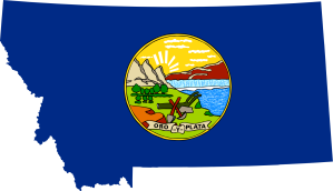 MontanaMapwithFlag